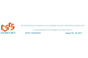 6th ICCSISCT / 24 - 25 August 2017