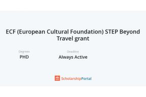 ECF (European Cultural Foundation) STEP Beyond Travel grant