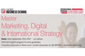 Full time Master: MARKETING, DIGITAL & INTERNATIONAL STRATEGY