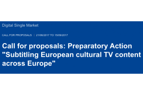 Call: Subtitling European cultural TV content across Europe