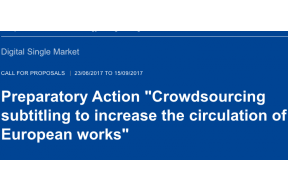 Crowdsourcing subtitling to increase the circulation of European works