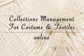 ONLINE PROGRAM: Collections Management For Costume & Textiles