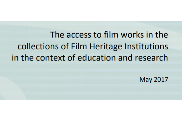 New Study on Access to Film Works for Education and Research