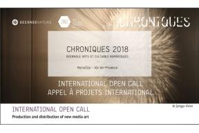 CALL FOR PROJECTS CHRONIQUES 2018