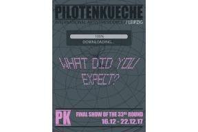 """What Did You Expect?"" / PILOTENKUECHE final exhibition"