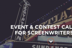 2018 EVENT & CONTEST CALENDAR FOR SCREENWRITERS