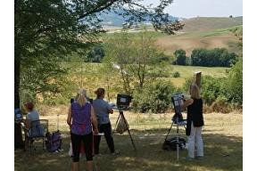 MARY GARRISH, PLEIN AIR IN TUSCANY'S VAL D'ORCIA