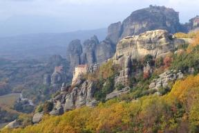 Sketch and walk in the stone forests of the Meteora in Greece