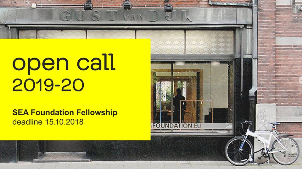 SEA FOUNDATION FELLOWSHIP   OPEN CALL FOR ARTISTS CURATORS AND WRITERS