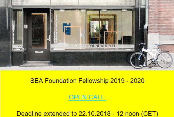 SEA FOUNDATION FELLOWSHIP | OPEN CALL FOR ARTISTS CURATORS AND WRITERS