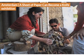 A sheet of paper can become a knife exhibition