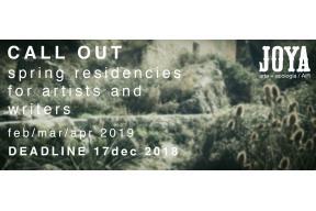 Joya: AiR / spring residencies for artists and writers