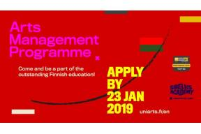APPLY FOR SIBELIUS ACADEMY'S ARTS MANAGEMENT PROGRAMME 2019