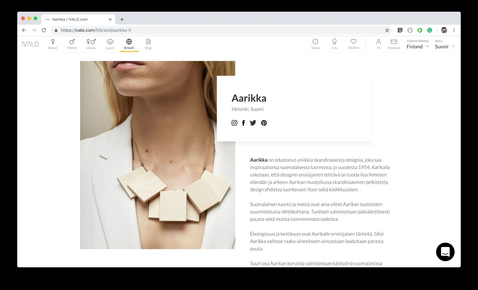 IVALO Marketplace for ethical and emerging fashion