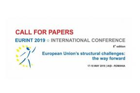 Call for papers: EURINT 2019 International Conference in Romania