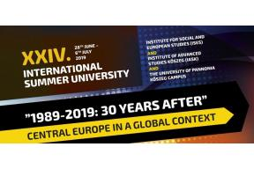 "International Summer University – ""1989-2019: 30 Years After"""