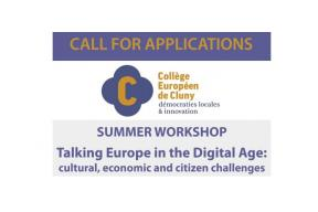 Call for Applications for the Summer University 2019 in Cluny, France