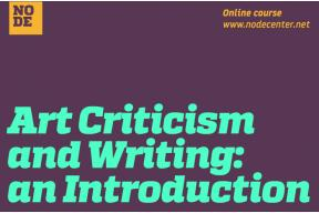 Art Criticism and Writing: an Introduction