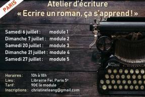 """Cycle d'ateliers d'écriture : """"Ecrire un roman, ça s'apprend !"""""""
