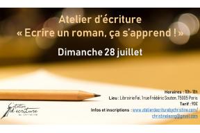 """Atelier d'écriture : """"Écrire un roman, ça s'apprend !"""""""