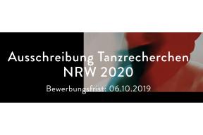Ausschreiburg Tanzrecherchen NRW 2020