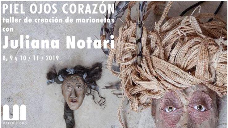 Taller de creación de marionetas con Juliana Notari