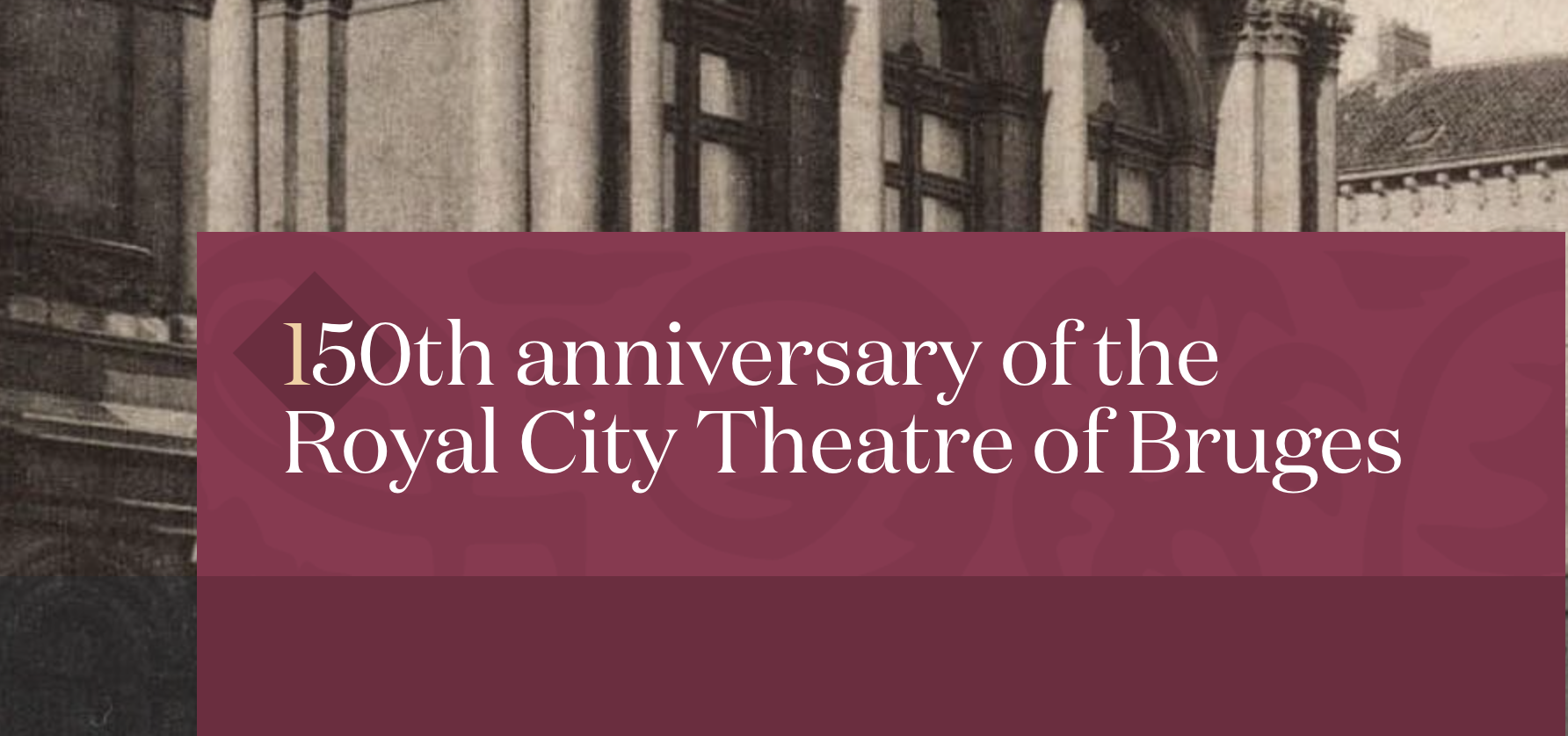 150th anniversary of the Royal City Theatre of Bruges