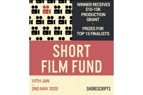 Call for submissions: 2020's short film fund
