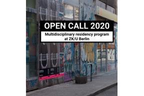 […] IN RESIDENCE - ZK/U BERLIN OPEN CALL