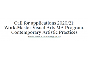 Call for applications 2020/21: Work.Master Visual Arts MA Program