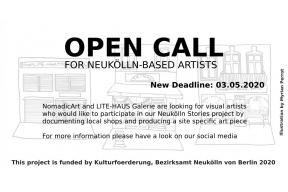 Open call for Berlin Based artists!
