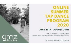 Online Summer Tap Dance Program 2020