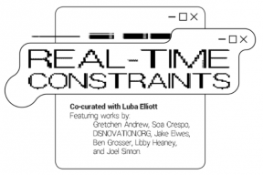 Real-Time Constraints, an online exhibition at arebyte Gallery