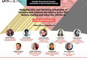 DISCE Webinar #1: Possible Future(s) of Creative Economies in post-COVID-19 Europe