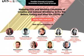 DISCE Webinar #1: Possible Future(s) of Creative Economies in post-COVID-19 Europe