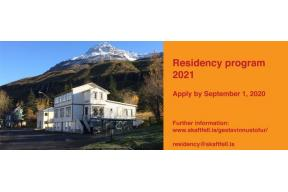 Call for Applications: Skaftfell Residency Program 2021