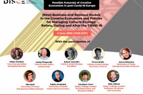 DISCE Webinar #2: Possible Future(s) of Creative Economies in post-COVID-19 Europe
