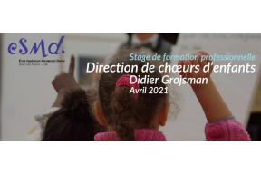 "STAGE ""DIRECTION DE CHŒURS D'ENFANTS"""