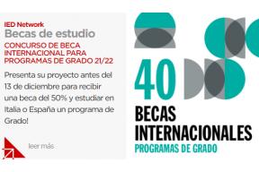 Concurso de beca internacional para programa de grado 21/22