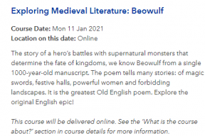 Exploring Medieval Literature: Beowulf