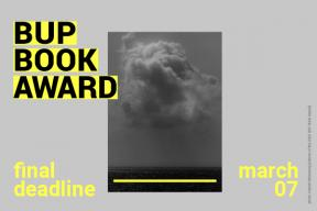 BUP Book Award 2021 - deadline extended