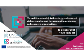 Virtual Roundtable: Gender-based Violence and Sexual Harassment in Academia