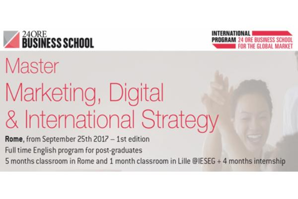 Full time Master: MARKETING, DIGITAL & INTERNATIONAL STRATEGY