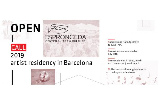 Open Call 2019 - Artist residency in Barcelona