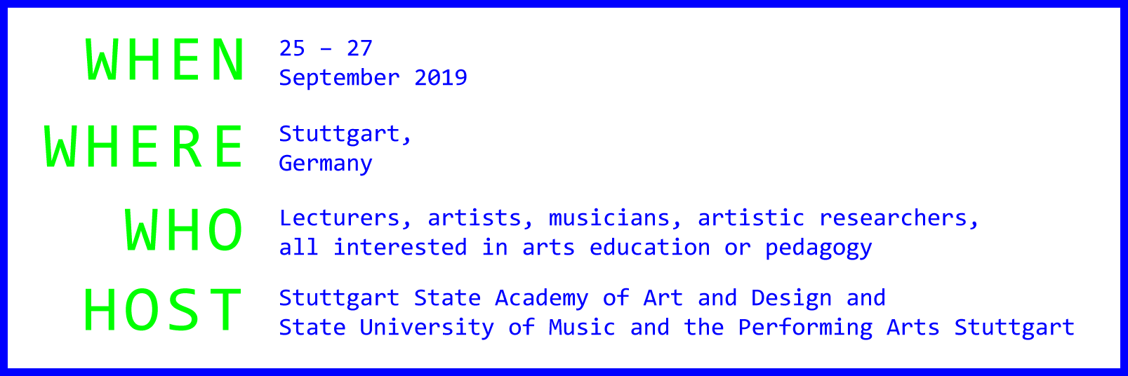 ELIA ACADEMY 2019: Decoding Digitality in Higher Arts Education