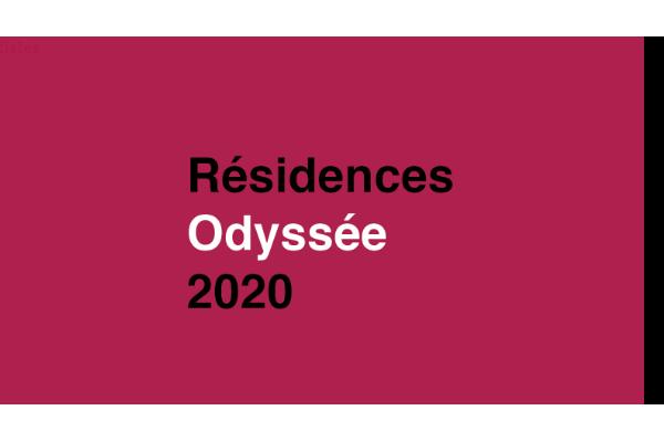 Appel à candidature 2020 - Programme Odyssée de résidences d'artistes