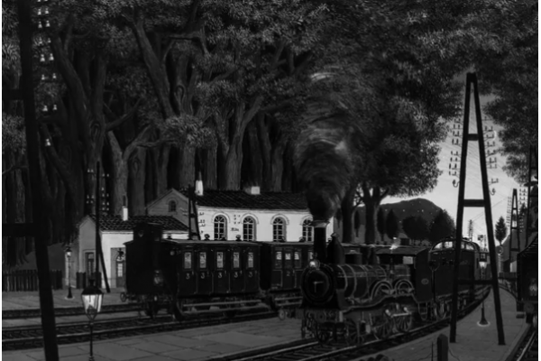 Exposition Paul Delvaux. The man who loved trains.