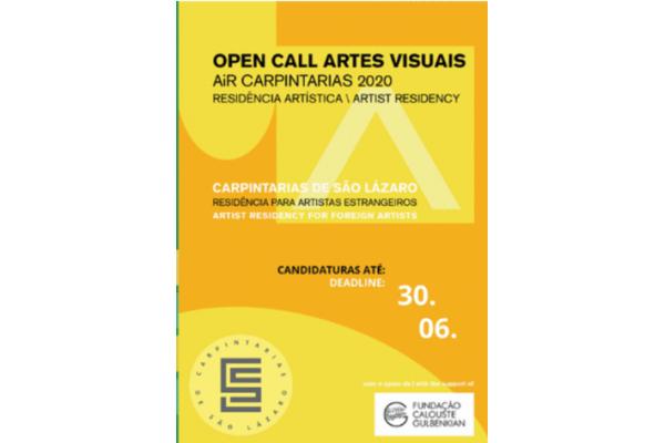 OPEN CALL AiR Carpintarias 2020