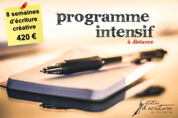 Programme intensif d'écriture (à distance)