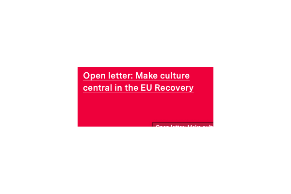 Open letter: Make culture central in the EU Recovery